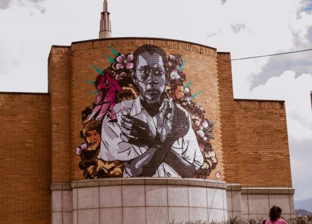 A mural in Medellín